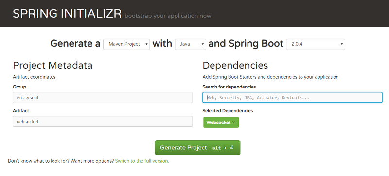 Чат на Spring Boot и WebSocket - SYSOUT